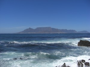 Table Mountain set fra Robben Island
